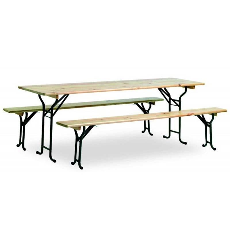 Location table brasserie 200 x 70 cm for Table exterieur 70 cm