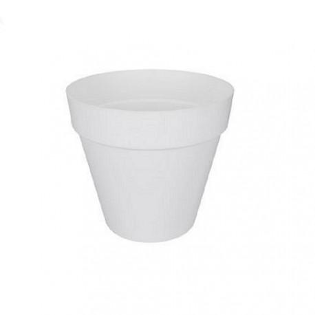 cache pot blanc pour d cor de plantes location r ception. Black Bedroom Furniture Sets. Home Design Ideas
