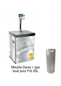 Pompe à Bière - Fût 20L - Meuble David