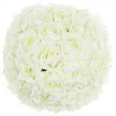 Boule de roses artificielles crème