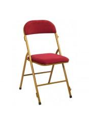 Chaise pliante métal/velours