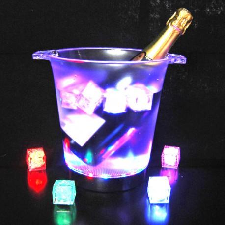 seau champagne led facile location r ception f l r. Black Bedroom Furniture Sets. Home Design Ideas
