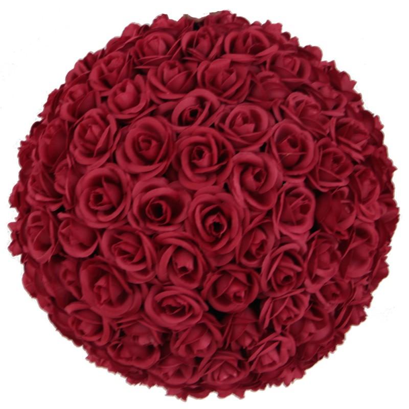 Boule De Rose : location de boules de roses artificielles rouge ~ Teatrodelosmanantiales.com Idées de Décoration
