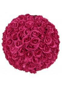 Boule de roses fuchsia 40 cm