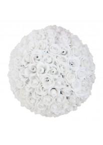 Boule de roses blanches 40 cm